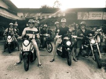 Motorbiking in the countryside